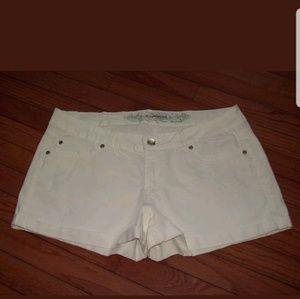 Express size 12 white jean shorts